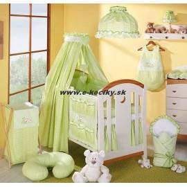 Mamo Tato 4 dielna súprava do postieľky Spiaci medvedík s bavlnenými nebesami