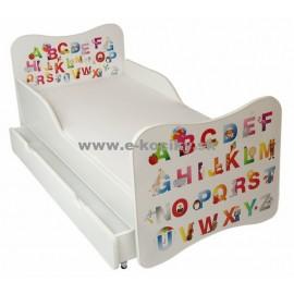 Amila Detská posteľ ABC biela 140x70 + matrac ZDARMA!
