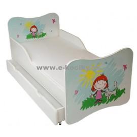 Amila Detská posteľ Dievčatko 140x70 cm + matrac ZDARMA!
