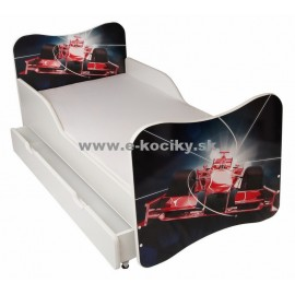 Amila Detská posteľ Formula 140x70cm + matrac ZDARMA!
