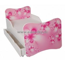 Amila Detská posteľ Kvety 140x70cm + matrac ZDARMA!