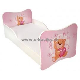 Amila Detská posteľ Medvedík 140x70cm + matrac ZDARMA!