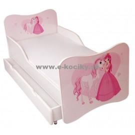 Amila Detská posteľ Princezná so srdiečkom 140x70cm + matrac ZDARMA!
