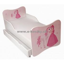 Amila Detská posteľ Princezná 140x70cm + matrac ZDARMA!