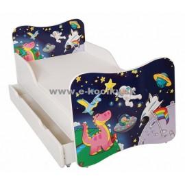 Amila Detská posteľ Vesmír 140x70cm + matrac ZDARMA!