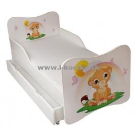 Amila Detská posteľ Levík 160x80cm + matrac ZDARMA!
