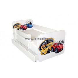 Amila Detská posteľ Tobi Cars Žltá 160x80 cm s matracom