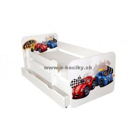 Amila Detská posteľ Tobi Cars Modrá 140x70 cm s matracom