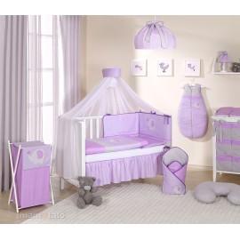 Mamo Tato 5 dielna bielizeň s moskytierou Sloník fialová
