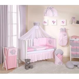 Mamo Tato 5 dielna bielizeň s moskytierou Sloník ružová