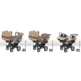 Baby Active Kočík pre trojičky TRIPPY