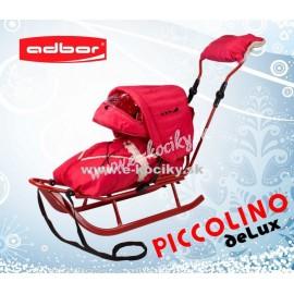 Sánky Adbor Piccolino De Luxe Červené