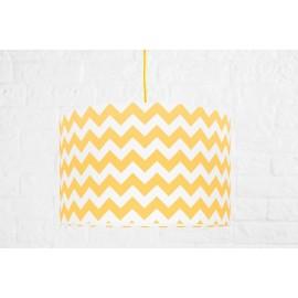 Textilná závesná lampa Cik Cak