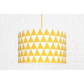 Textilná závesná lampa Triangle