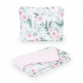 Mamo Tato vankúš a deka Velvet Ružový sad/Ružová