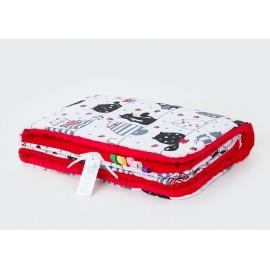 Mamo Tato deka Minky Murko biela/červená