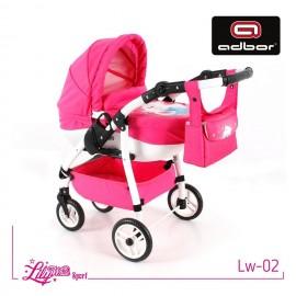 Kočík pre bábiky Adbor Lily Sport White