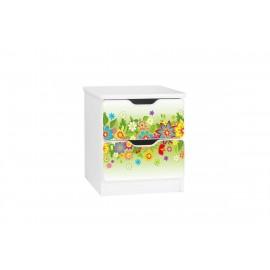 Amila nočný stolík Kvety zelené