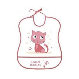 Mäkký plastový podbradník Canpol Babies 2/919 mačička