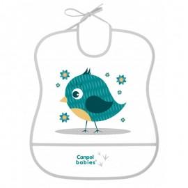 Mäkký plastový podbradník Canpol Babies 2/919 vtáčik