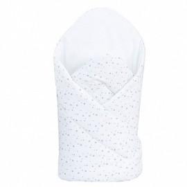 Mamo Tato Bavlnená zavinovačka s výstužou Minihviezdičky sivé na bielom